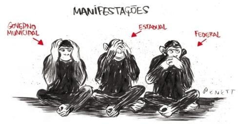 18jun2013---charge-do-cartunista-benett-sobre-as-manifestacoes-contra-o-aumento-da-tarifa-do-transporte-publico