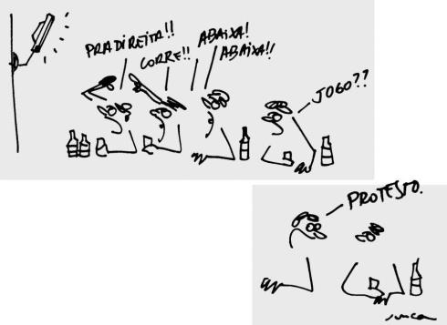 18jun2013---fernando-junca-fez-uma-brincadeira-relacionando-as-manifestacoes-de-rua-e-o-futebol-em-sua-charge-sobre-os-protestos-que-ocorrem-em-diversas-do-pais