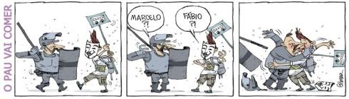 19jun2013---cartunista-gilmar-representa-um-encontro-pouco-provavel-nas-manifestacoes