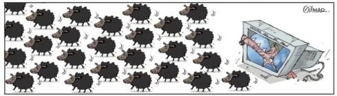 20jun2013---cartunista-gilmar-fez-uma-charge-sobre-os-protestos-intitulada-as-ovelhas