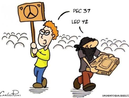 24jun2013---o-cartunista-carlos-ruas-faz-uma-satira-aos-atos-de-vandalismo-que-ocorrem-durante-as-manifestacoes