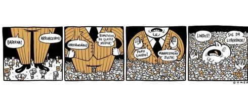 24jun2013---o-cartunista-gomez-ironiza-a-mudanca-da-forma-como-os-manifestantes-foram-julgados-por-setores-da-sociedade-no-decorrer-dos-protestos
