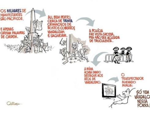 27jun2013---cartunista-quinho-critica-a-forma-como-as-manifestacoes-sao-noticiadas-pela-imprensa